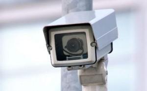 An installed CCTV camera