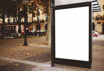 Blank digital signage on the street