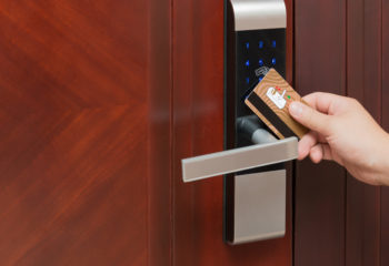 opening a door entry system by security card