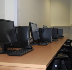Small computer setup in school