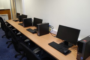computers setup in school