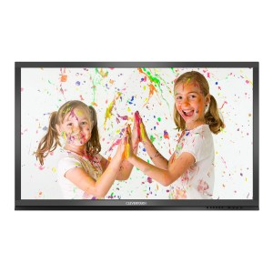 kids playing with paint on screen saver