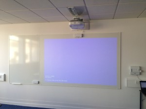 projector turned off